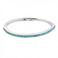 Bracelet argenté orné de fausses pierres turquoise