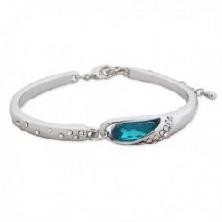 Bracelet forme de serpent, avec strass et faux cristal turquoise