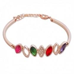 Bracelet à feuilles multicolores