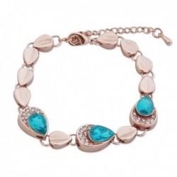 Bracelet larmes dorées et turquoise