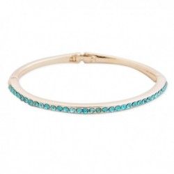 Bracelet doré délicat aux strass turquoise
