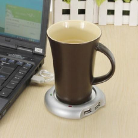 Multiplicateur HUB USB chauffe-tasse