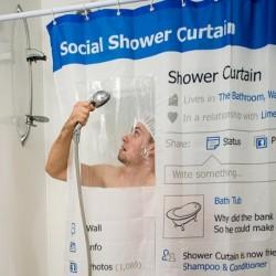 Rideau de douche profil reseaux sociaux