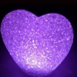 Lampe en cœur