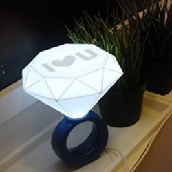 Lampe design bague à diamant