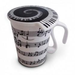 Mug partition musique à couvercle
