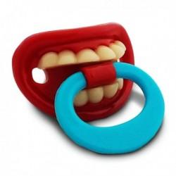 Tétine avec dents et anneau