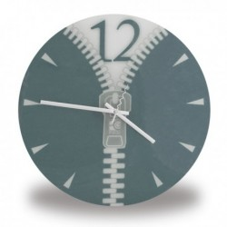 Horloge ronde design fermeture éclair