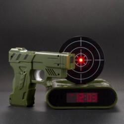 Réveil pistolet cible insolite