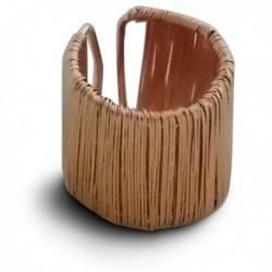 Bague tissée couleur cuivre