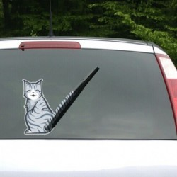 2 autocollant chat pour pare-brise arrière