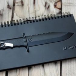 Carnet de note couteau en 3D