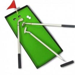 3 stylos mini-clubs de golf et son petit terrain