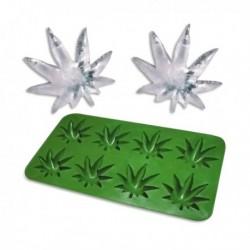 Bac à glacons feuille de cannabis en silicone