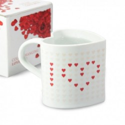 Mug thermo-réactifs en forme de coeur L Love You