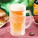 Chope de bière géante à double paroi réfrigérante