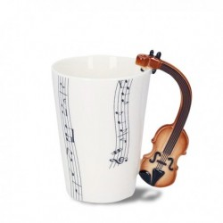 Tasse avec partitions anse violon