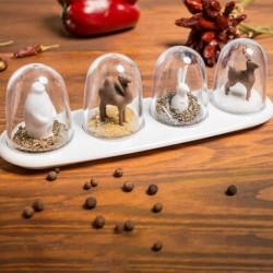 Distributeurs à épices design animaux