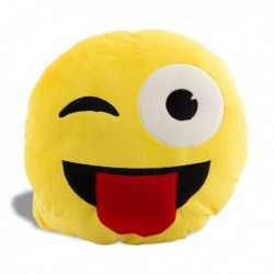 Coussin emoticone clin d'oeil smiley