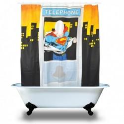 Rideau de Douche Superman dans une Cabine Téléphonique