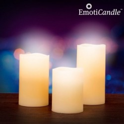 Bougies de cire vanillée à flamme LED (lot de 3)