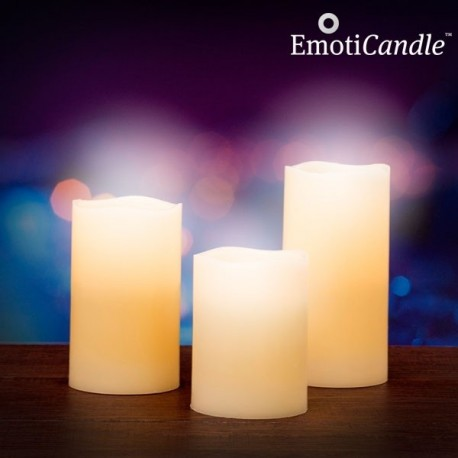 Bougies de cire vanillée à flamme LED (lot de 3)
