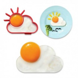 Moule à oeuf sur plat en forme de soleil et nuage
