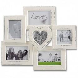 Cadre 6 photos au design romantique et rétro