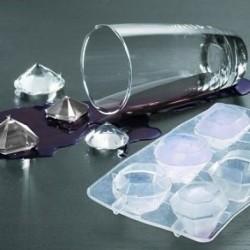 Bac à glacons en silicone 6 diamants