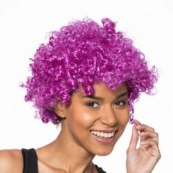 Perruque violette coupe afro