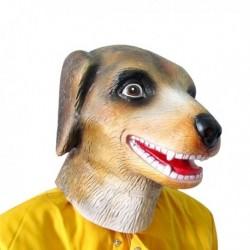 Masque tête de chien en latex