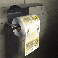Papier wc billets de 200 euros