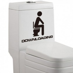 Sticker de toilettes Downloading