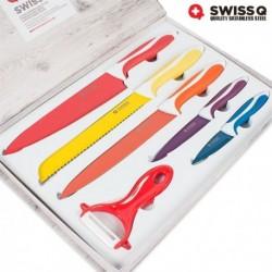Coffret de 5 couteaux et 1 économe Swiss Q