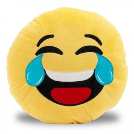 Coussin émoticône mort de rire