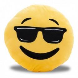 Coussin émoticône avec lunettes de soleil noires