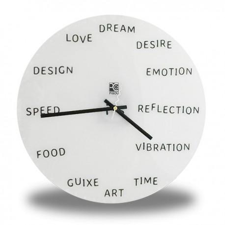 Horloge murale mots en anglais