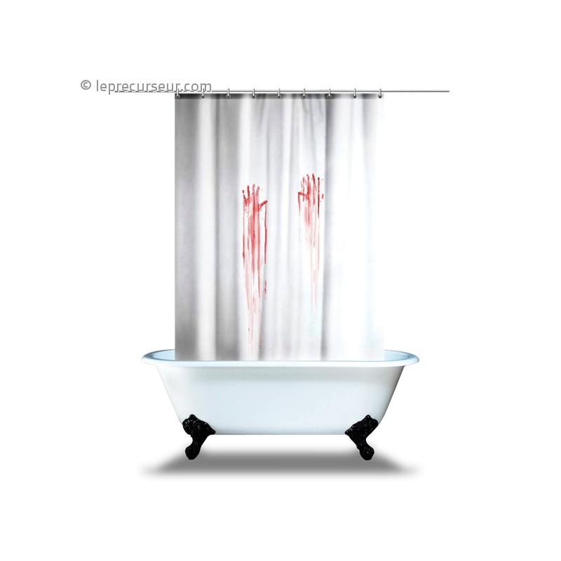 rideau de douche traces de mains ensanglant es. Black Bedroom Furniture Sets. Home Design Ideas