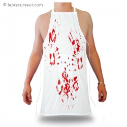 Tablier de boucher avec traces de sang
