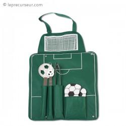 Tablier football pour barbecue et ses accessoires