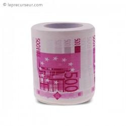 Papier toilettes billets de 500 euros