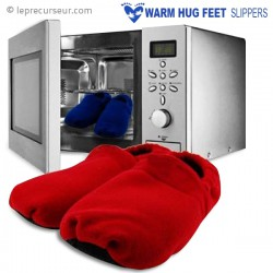 Paire de chaussons chauffants au micro-ondes