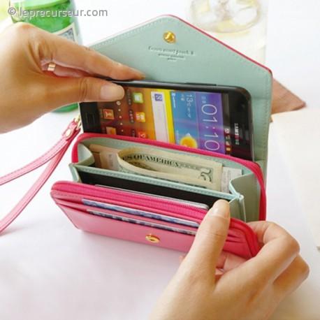 Pochette portefeuille pour portable