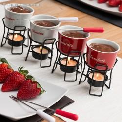 Set de 4 mini-fondues en céramique