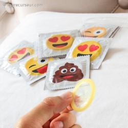 Pack de 6 préservatifs sachet émoji