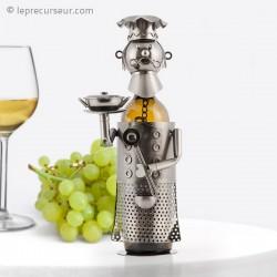 Porte-bouteille en métal chef cuisinier