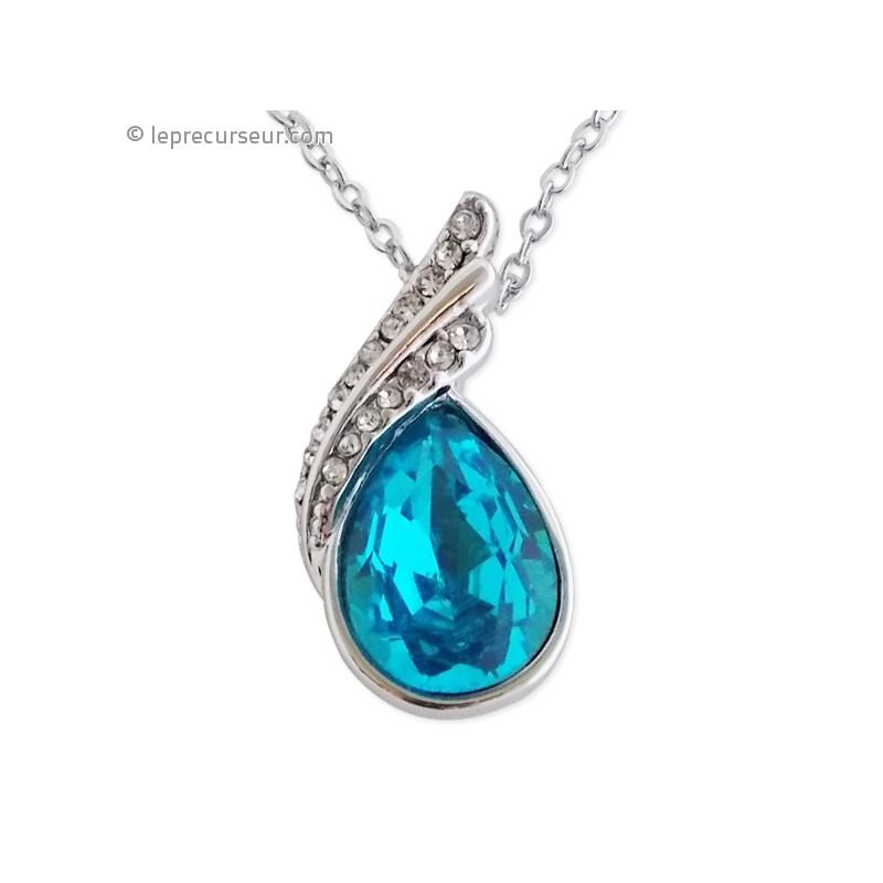 pendentif pierre bleu