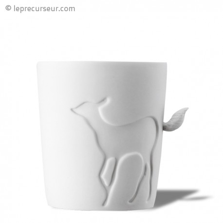 Tasse animal anse queue de biche