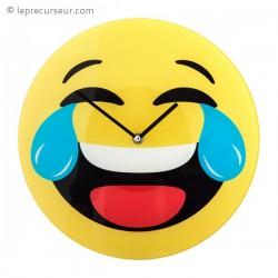 Horloge murale smiley mort de rire