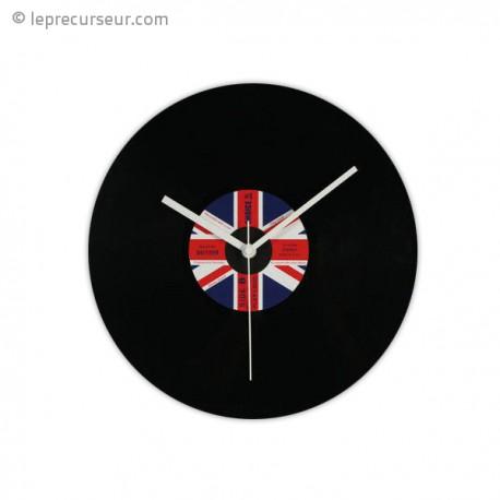 Horloge disque vinyle drapeau du Royaume-Uni